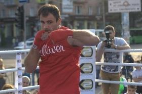 Фото 1 - Боксерский ринг в центре Черкасс (открытая тренировка 'K2 Promotions Ukraine')