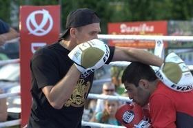 Фото 29 - Боксерский ринг в центре Черкасс (открытая тренировка 'K2 Promotions Ukraine')