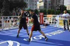 Фото 36 - Боксерский ринг в центре Черкасс (открытая тренировка 'K2 Promotions Ukraine')