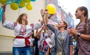 День Независимости. Черкассы 2016. Запуск патриотических шариков - фото 4