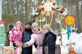 Фото 39 - Празднование Масленицы в парке 'Сосновый бор'