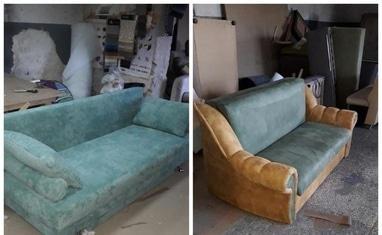 Перетяжка мягкой мебели - Перетяжка диванов, кухонных уголков - фото 4
