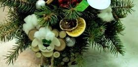 """Статья 'Новогодняя настольная композиция: мастер-класс от """"Bouton""""'"""