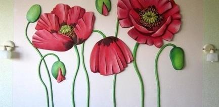 'Стройся!' - статья Интересные дизайнерские решения для интерьеров: объемная роспись стен