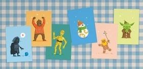 """Статья 'Черкасский дизайнер создал серию открыток с героями """"Звездных войн""""'"""