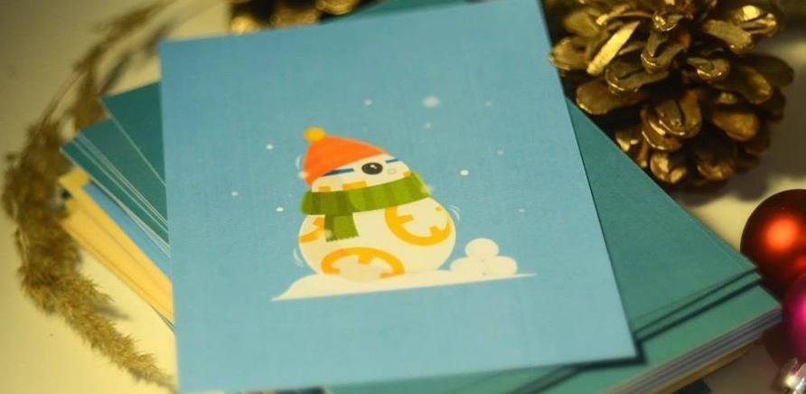"""Фото 2 - Черкаський дизайнер створив серію листівок із героями фільму """"Зоряні війни"""""""
