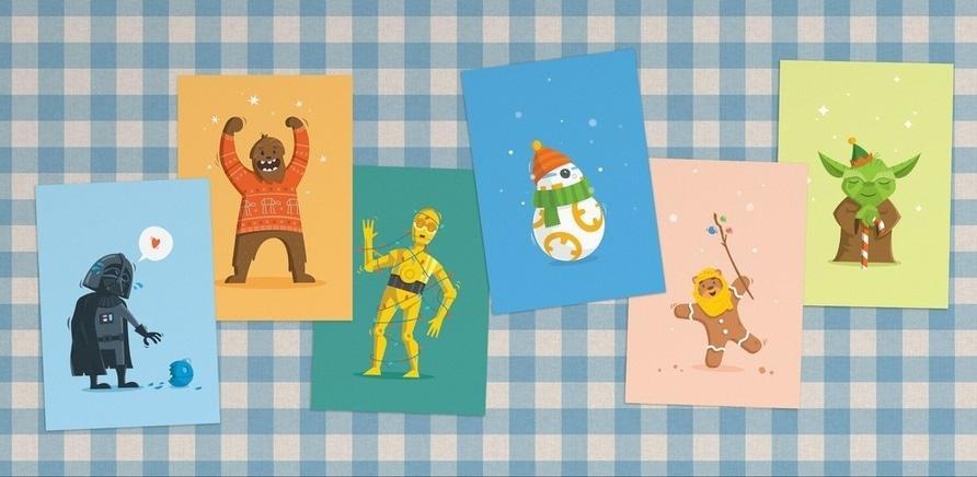 """Фото 3 - Черкаський дизайнер створив серію листівок із героями фільму """"Зоряні війни"""""""