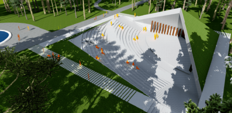 Фото 1 - Який вигляд матиме новий літній кінотеатр у Черкасах?