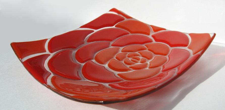 """Фото 4 - Тарелка """"Красная роза"""""""