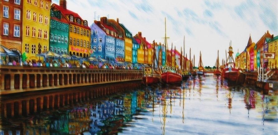 """Фото 6 - Картина """"Nyhavn-2"""" Denmark/Дания"""