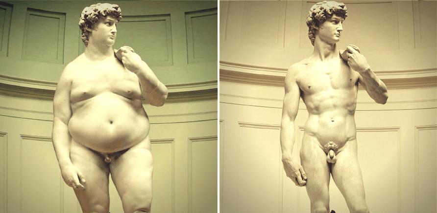 """Фото 1 - """"Я беру глыбу мрамора и отсекаю от нее все лишнее"""". Так итальянский скульптор Микеланджело отвечал на вопрос """"Как вам удается создавать такие невероятные статуи"""". Микеланджело работал над статуей Давида в течение 2 лет"""