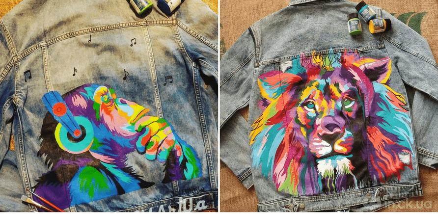 Фото 5 - Черкасщанка наносит яркие рисунки на одежду, обувь и аксессуары