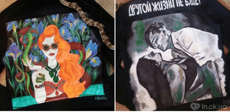 Фото 7 - Черкасщанка наносит яркие рисунки на одежду, обувь и аксессуары