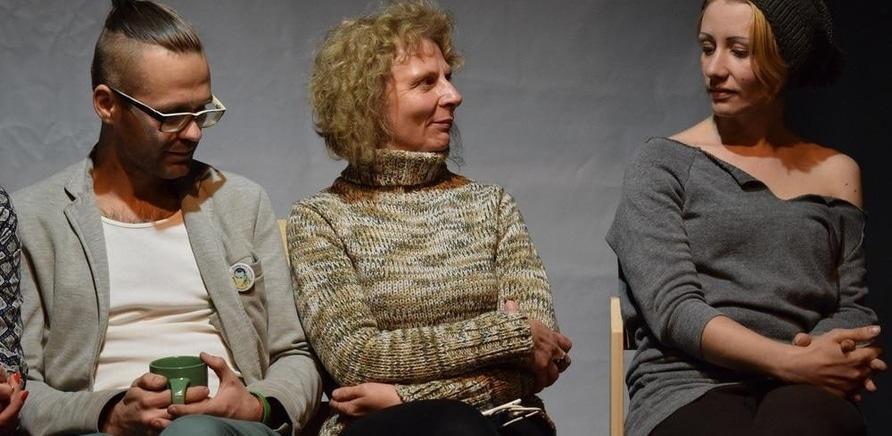 'Киевский андеграундный театр представил черкасщанам необычный перформанс'