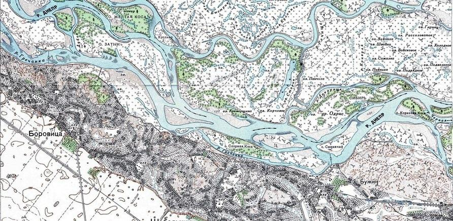 Карта Чигиринського району до затоплення