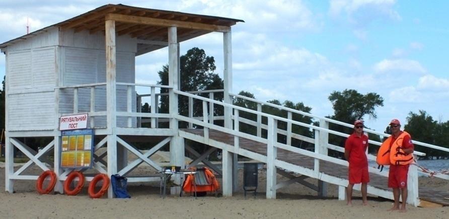'На черкасских пляжах появились спасательные посты'