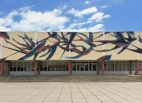 Статья 'На черкасской школе появился мурал португальского художника'