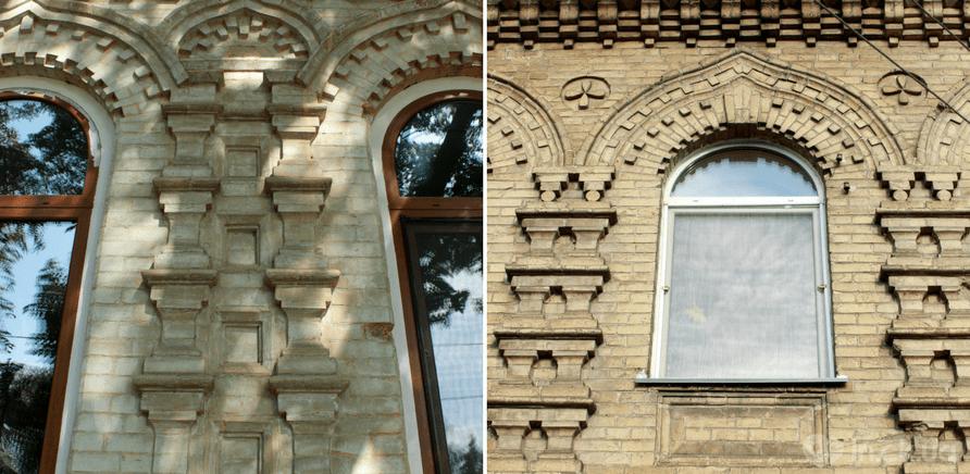 """Каменный """"столп рода"""", который подпирает небесный свод на ул. Крещатик, 189"""