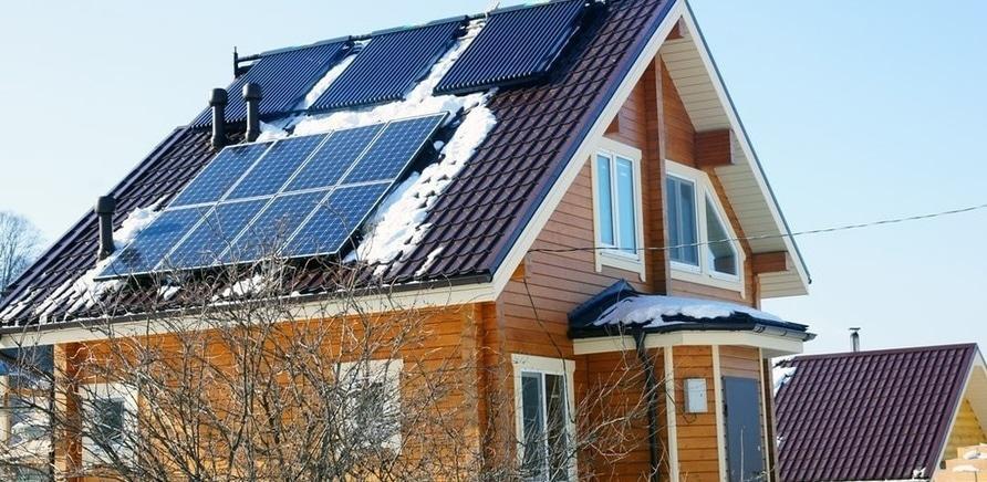 Солнечная станция вырабатывает электроэнергию и в зимнее время