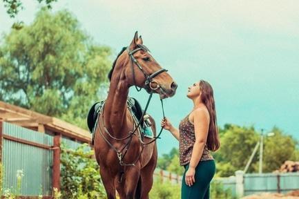 Статья 'Необычный презент: черкасщанка получила в подарок коня'