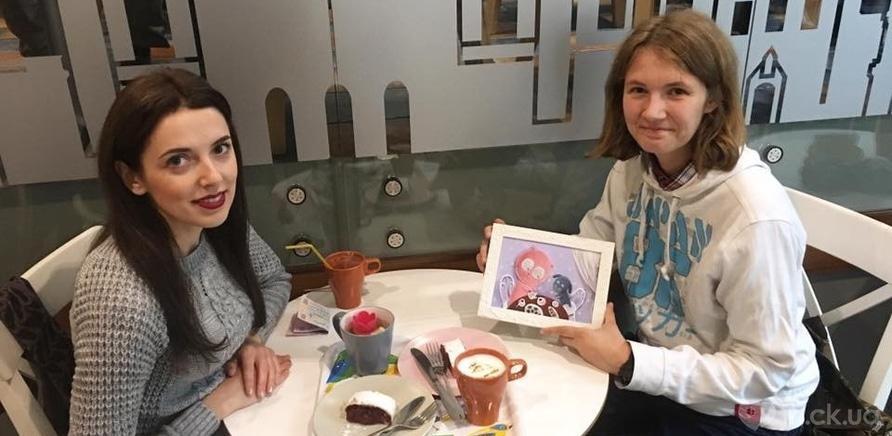 Искусство ради благотворительности: победительница аукциона получила картину от Анны Василенко