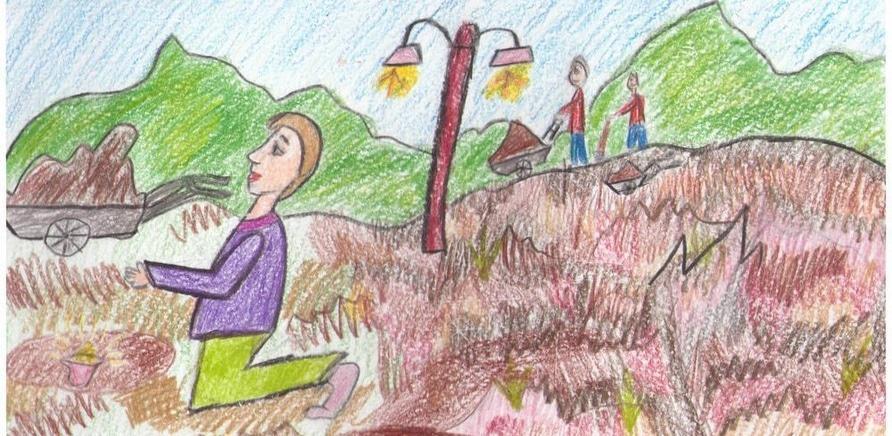 """Автор – Анастасія Харченко, 11 років, ПНЗ """"Багатопрофільний молодіжний центр"""" ЧМР художня студія """"Сузір'я"""", керівник Ольга Курська"""