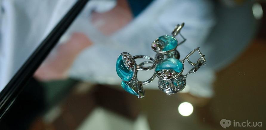"""Фото 1 - Срібні сережки і каблучка ювелірного дому """"Zarina"""""""