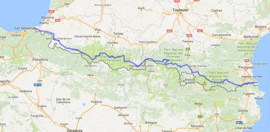 Фото 1 - Карта маршрута, который прошли Анастасия и Михаил