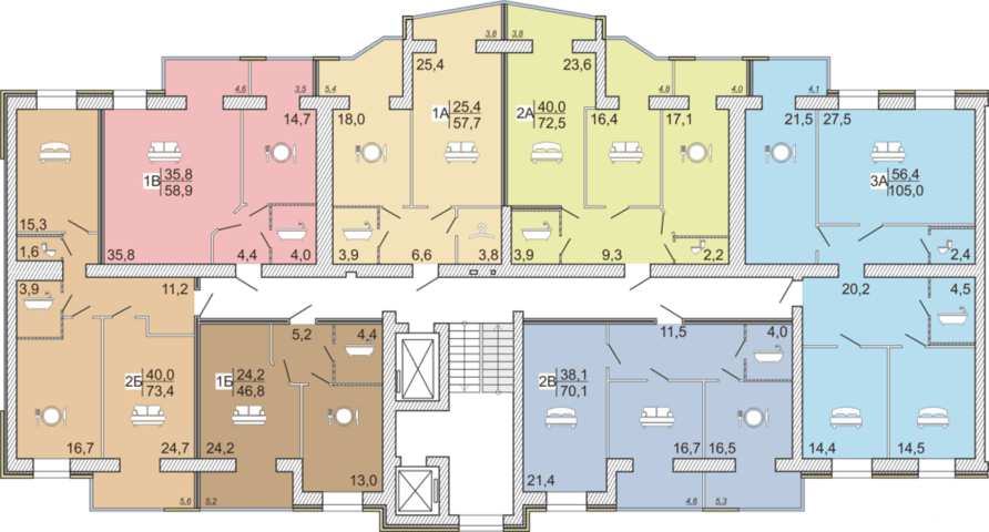 4 секция 2-6 этаж