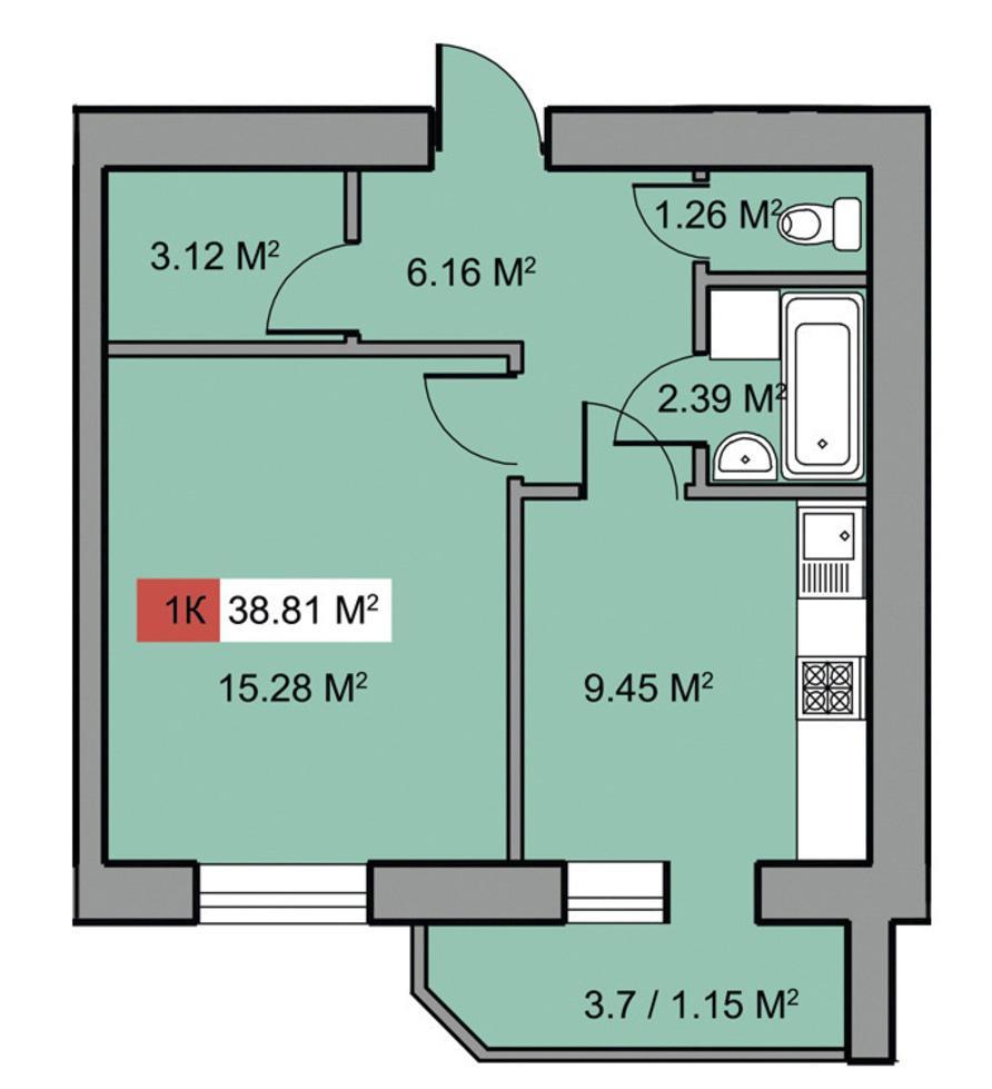 Многоэтажный дом по ул. 30-лет Победы