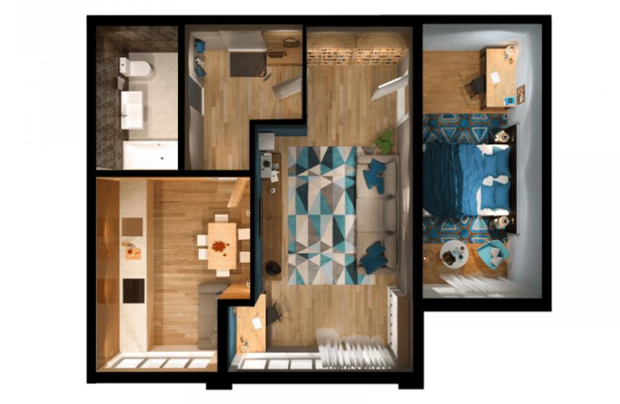 2-кімнатна квартира 58 кв.м