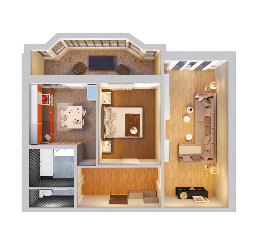 2-кімнатна квартира 62,25 кв.м