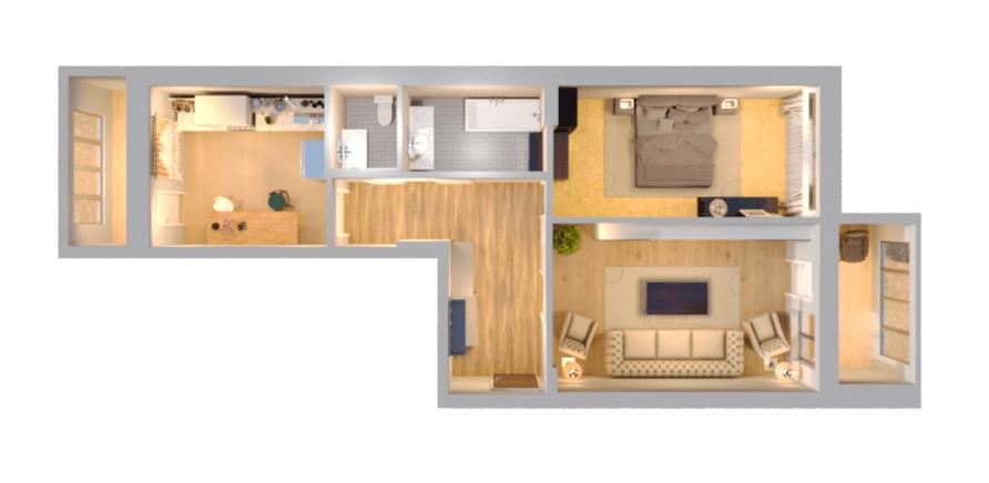 2-кімнатна квартира 66,95 кв.м