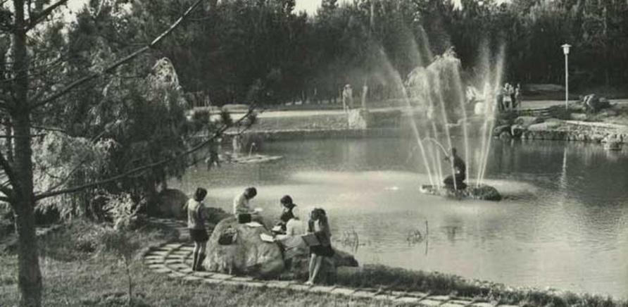 Фото 3 - А вот так выглядел фонтан с Русалочкой в советские времена. Фото с фейсбука Бориса Юхно