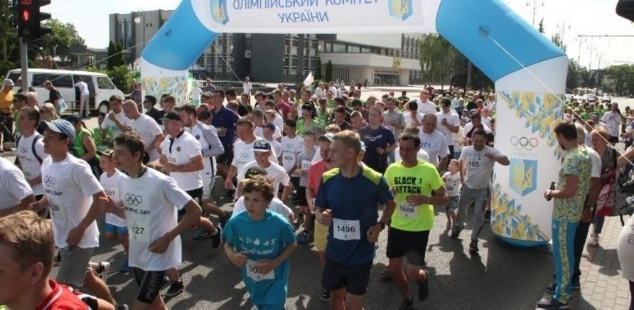 Фото 3 - Почти полторы тысячи черкасщан приняли участие в олимпийском забеге