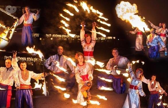 Фото 1 - Огненное шоу, пиротехническое шоу, великаны на ходулях Сварожичи