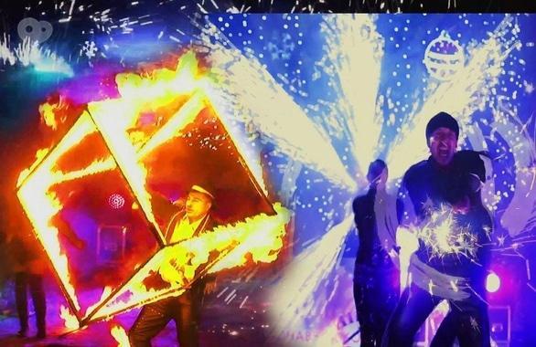Фото 3 - Огненное шоу, пиротехническое шоу, великаны на ходулях Сварожичи