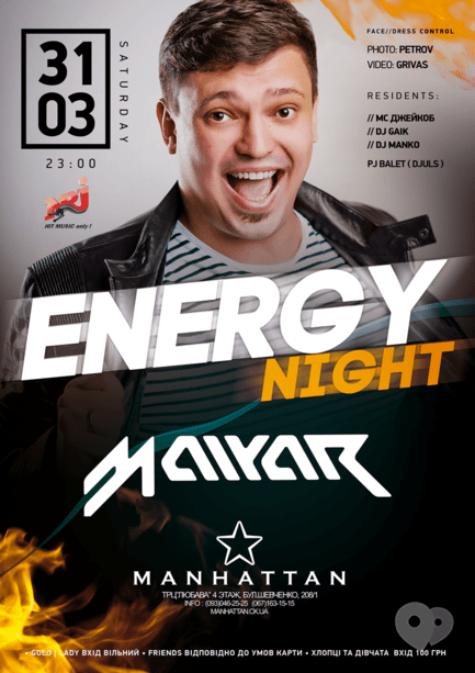 Вечеринка - Вечеринка 'NRJ night' в 'MANHATTAN'