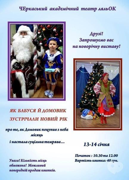Для детей - Новогодний спектакль 'Як Бабуся й Домовик зустрічали Новий рік'