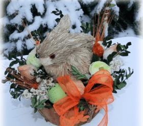 'Новый год  2018' - Мастер-класс выходного дня 'Изготавливаем зимние поделки из сена'