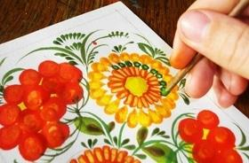 'Лето' - Творческий мастер-класс по петриковской росписи