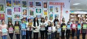 """Выставка работ юных талантов """"Весенний квитограй"""""""