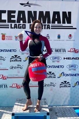 Фільм - Нова перемога OceanWoman: Анастасія Даугуле підкорила гірське озеро в Італії