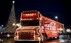 Афиша 'Новогодний праздник Coca-Cola'