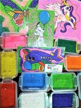 """Мастер-класс """"Рисование цветным песком"""""""
