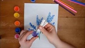 """Арт-терапевтический мастер-класс """"Рисунок ватными палочками"""""""