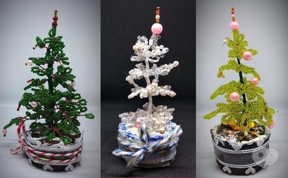 Обучение - Мастер-класс по изготовлению миниатюрных бисерных елок