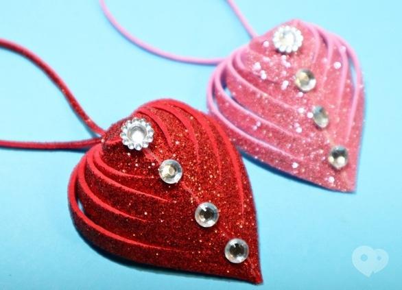 Обучение - Мастер-класс 'Сердце с фоамирану на День Святого Валентина'