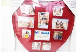 Фотоколаж на 10 фото 'Серце' червоне