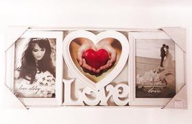 Фотоколаж на 3 фото з серцем посередині